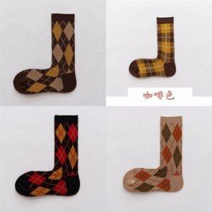 P1GE con estilo Toe Sock tobillo color japonesa otoño moda otoño e invierno color rayado así calcetines en calcetines de algodón tamaño de tubo
