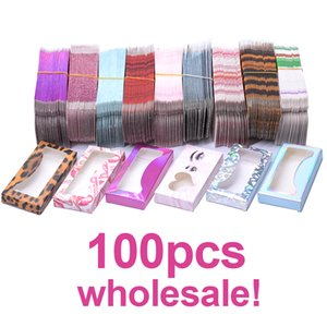 Wholesale Carton Paper Packing Box for 25mm long EyeLash Wholesale Bulk Cheap Pretty Lashes Storage Packaging