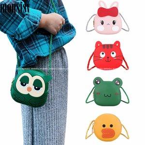Monsisy Karikatur-Geldbeutel und Handtaschen-Mädchen-Jungen-Crossbody Beutel 2020 Kinder Messenger Bag Cute Owl / Kaninchen / Katze / Frosch / Ente Kid Geldsack