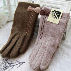 Перчатки Зимняя осень iPhone Touch и экран Элегантный лук Кашемире шерсть женские водительские перчатки