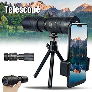 Yüksek Kaliteli Teleskop Monoküler 4 K 10-300x40mm Süper Telefoto Zoom Monoküler Teleskop Taşınabilir Açık Spor Teleskop