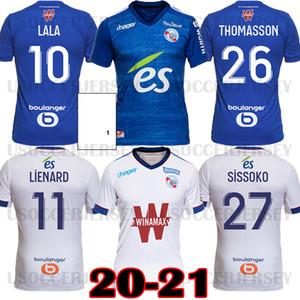 20 21 مايوه RC ستراسبورغ الألزاس لكرة القدم جيرسي 2020 2021 قمصان كرة القدم جيكو Thomasson Lala Mothiba Sissoko Football Jersey Tops
