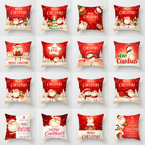 Décorations de Noël Taie Père Noël Bonhomme de neige Taie Maison de vacances Décoration Coussin Taie d'oreiller 23 style peut choisir XD24035