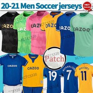 에버 튼 # 19 JAMES 축구 유니폼 홈 RICHARLISON의 데이비스 떨어져 3 2021 남자 아이 골키퍼 셔츠 사용자 정의 축구 유니폼