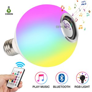 Bluetooth LED Bulb Music Playing Dimmable Wireless 12W E27 RGBW Bulb Lamp with 24keys Remote Smart Bulbs
