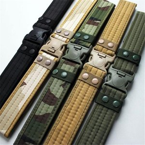 Waist Support 2 Inch Tactical Belt Unisex Durable Canvas Material Hunting Outdoor Utility Adjustable Waistband1