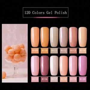Modelones Rosa-Farben-Serie UV-Gel-Nagellack-Nagel-Kunst tränken weg vom LED-Hybrid-Lack Semi Permanent UV Emaille J3iN #