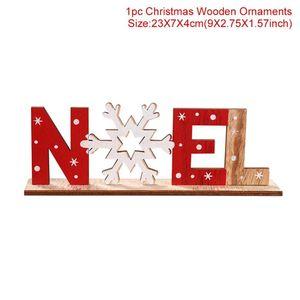Decoração de Natal Cup Qifu Natal Frigorífico Etiqueta Papai Noel Boneco de neve Enfeites Para Casa Noel 2019 Feliz Ano Novo 2020 bbyoMH