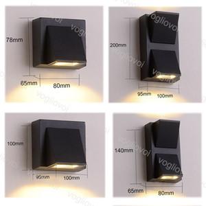 Lampes murales extérieures 85-265V 3W 6W 10W 20W COB IP65 imperméable moderne simple créatif créatif k style pour chambre à coucher lumineux salon DHL