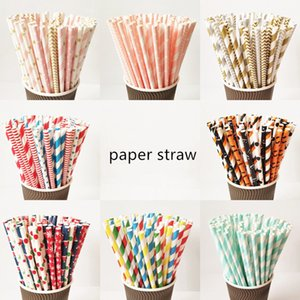 Eco Friendly Paper Straw Disposable Straw Biodegradable Paper Party Drink Straw Wholesale 25 Pcs a Lot