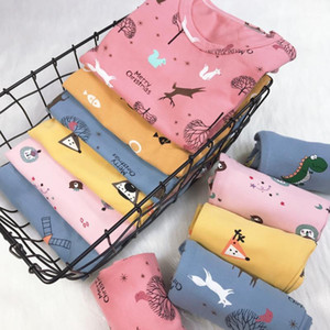 Kids Pajamas Clothing Set Boys Girls Cartoon Print Toddler PJS Summer Long Sleeve and pants Sets Children Homewear Sleepwear1