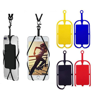 silicone lanyards neck strap necklace sling card holder strap keychain for universal mobile cell phone 82kRW