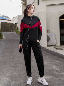Large size sports women's autumn and winter fat mm gym loose casual slim long sleeve morning running Yoga suit
