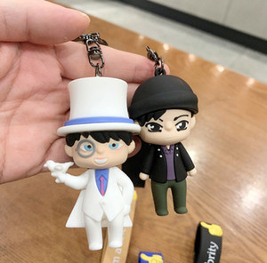 2020 The factory wholesale Detective Conan silicone car key chain Creative car keychains creative custom key chain