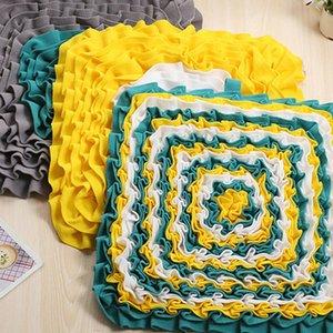 Qualitäts-Quadrat Rund Herz Durable Interactive Stress Relief Decke Spielzeug Füttern Velveteen Matte für Hund