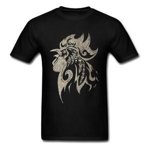 Manica corta Mens epoca gallo ornamento stile semplice Marchio stampato su girocollo abbigliamento shirt con cappuccio designer magliette felpa