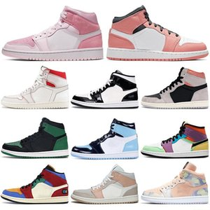 2020 Retro con scatola Mid Light Grey Jumpman 1 nike air jordans 1s rasoScarpe BSKetBall Air Digital-Pink Searless High OG Bio Hack Donne da donna da tennis