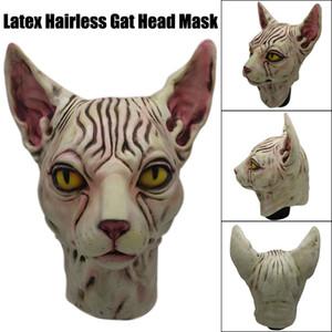 narin Emniyet Tam Üzeri tüysüz kedi Lateks At Başkanı Kostüm Koleksiyon Prop Korkunç Maske Oyuncak Hediye Z0304 Deals yapılan