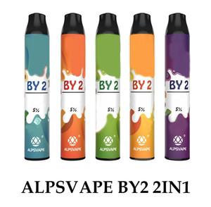 Nuovo kit di dispositivi monouso AlpsVape By2 6ml Pods 2 in 1 1200 soffio batteria da 900mAh di 2 vape stick Ezzy Super Onee 100% genuino