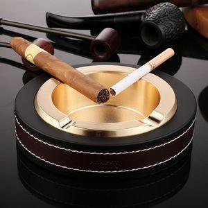 Cigar office ashtray household ashtray metal creative fashion personality boutique elliptical large ashtray gift-giving craft good wholesale