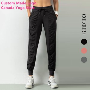 2020 New Apprival Womens Canada Yoga Style Track Pants Good Fiber Classic Design Sports Joggings Dance Stacked Pants