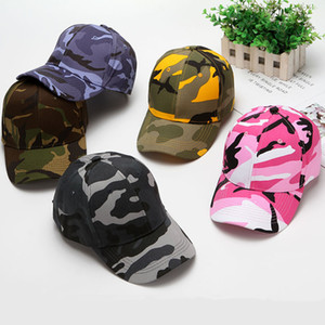 Camouflage Baseball Caps Women Mens Travel Hats Adjustable Snapback Cotton Curved Hats Summer Sun Hat 10 Colors