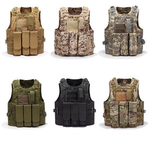 Gilet tattico da uomo Molle Combat Assault Plate Plate Carrier Tactical Vest Gunting Multifunzione Soldier Combat Gilet