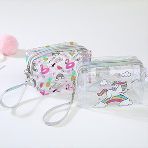 Transparent PVC Waterproof Cosmetic Bag Cactus Women Men Travel Wash Storage Bag Organizer Makeup Cases Beauty Toiletry Kit Wash