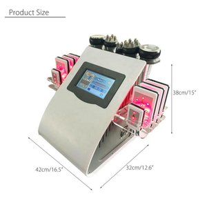 2021 HOT SALE Radio Frequency Bipolar Ultrasonic Cavitation 6 IN 1 Cellulite Removal Slimming Machine Vacuum Weight Loss Beauty Equipment