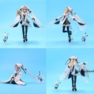 15cm Multiform Figma 045 Ex-045 Snow Hatsun Miku Crane Priestess Pvc Action Figure Toy Doll Gift For Kids T200227