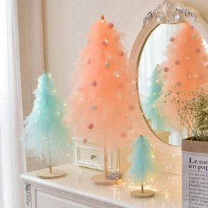 High Quality Girl Heart Christmas Gift Net Red Shake Tiffany Decor INS Wind Mini Pink Christmas Tree Decoration QW1571