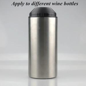Kırmızı Şarap Gümüş Çift duvarlı İzoleli Vakum Bar Aracı IIAA863 için Kapak Paslanmaz Çelik Şişe soğutucular ile 25oz Şarap Şişe Soğutucu