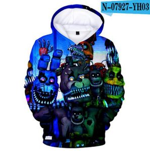 3D Five Nights At Freddys Clothes Children's Clothing Baby Girls Boys Long Sleeve Hoodies Kids Sweatshirts Birthday Gifts