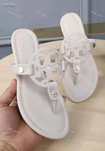 Tory Burch flip flop tasarım bayanlar inluxe Sıcak satış yaz düz ayakkabı bayan terlik terlik Burch yuvarlak ayak bayanlar Yeni Stylus plaj Tory sandalet 35-43