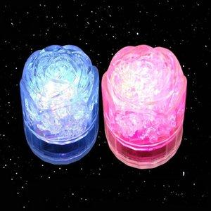 Amor forma de corazón parpadeando cubito de hielo LED Formas de rosa Luz Luminoso Luminoso Bloque Colorido Festival Decoración 1 65px L1