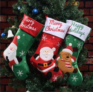 New Christmas socks Christmas decorations old man elk Christmas gift bag Candy Bag Pendant