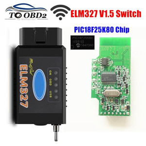 HS-CAN MS-CAN ELM327 V1.5 Switch PIC18F25K80 Chip support Bluetooth WIFI ELM 327 For FORScan OBD2 Car Diagnostic Scanner
