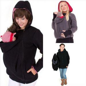 Eszjn Winter Maternity Designer Mode Noir Maternité Tricoté Robe longue Modycon Slim Vêtements pour femmes enceintes Chose d'automne coréen