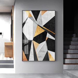 Özet Stil Geometrik Şekil Sanat Salon Tuval Poster Ev Deco boyama Renkler Combimation Duvar Resimleri Boyama