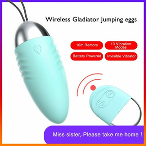 Frauen Vibrator Sex Ei Wireless Fernbedienung Liebe Jump Eier 10 Geschwindigkeiten Wasserdicht Silent Av Vibration Bullet Vaginalmassagegerät Spaß Sex Spielzeug