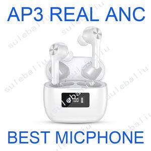 Air Pro АР3 с Real ANC шумоподавления беспроводной зарядки Bluetooth наушники H1 Чип ТЧД2 AP 2 3 Earbuds Бобы
