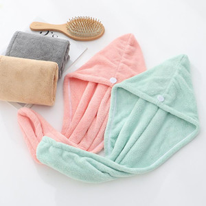Shower Caps Microfiber Quick Dry Towel Bathing Shower Caps Magic Super Absorbent Dry Hair Towel Hair Wrap Spa Bathing Hat CCC425