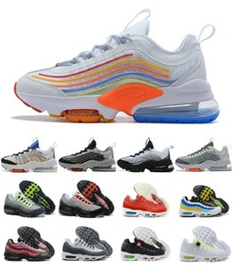 2020 New Air Zoom 950 Mens Running Shoes baratos INVICTO 95 Sliver bala sapatilhas 95s triplos branco preto Womens fumaça cinza Maxes Trainers