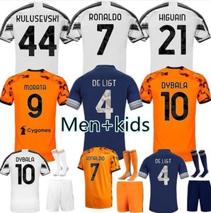 20 21 juventus Maillots de football RONALDO 2020 2021 MORATA Juve Dybala fans Player version KULUSEVSKI McKennie Football Shirt Men + kit Enfants