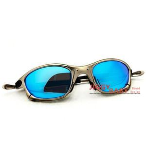 Metall Juliet xx 2 Sonnenbrille Fahren Sport Reiten polarisierte UV400 Qualitäts-Sonnenbrillen Männer Frauen Iridium Spiegel Ruby Red Blau Neu