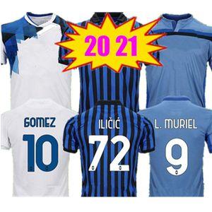 2021 Atalanta Soccer Jerseys Gomez 2020 2021 L.Muriel ilicic قميص كرة القدم غوسنس دي رون دوفان ريترو مالينوفسيكي ميرانشوك بمساليك جيرسي