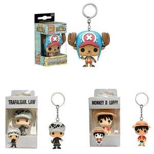 One Piece Zoro Frank Luffy Brook Chopper Robin Nami Sanji Anime Keychain Коллекционные действия Рисунок PVC Collection Toys1