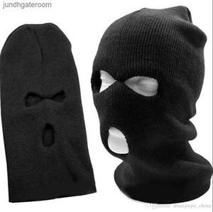 Winter 3 Hole Warm Ski Beanie Snowboard Hat Cap Wear Balaclava Full Face Cover Mask 50pcs LJO2985
