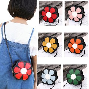 Kids Flower Bag Mini Cartoon Purse Bags One-shoulder PU Messenger Bag For Children Girls Xms Gifts Casual PU Leather Kids Girls Small Purse