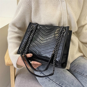 Winter Large Shoulder Travel Leather Pu Quailty Bag Female Luxury Handbags Women Bags Designer Sac A Main Femme Q1104